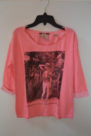 Pinkes Sommershirt Maison Scotch Gr. S