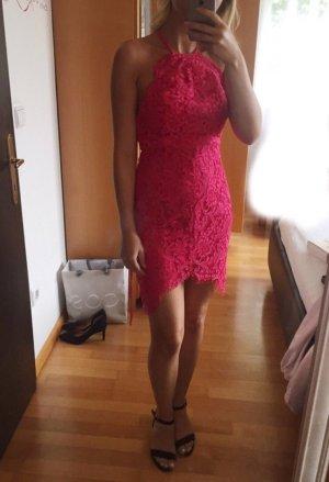 Pinkes Spitzenkleid Cocktailkleid Partykleid