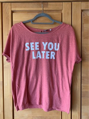 pinkes Statement-Shirt