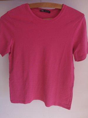 pinkes T-Shirt von Zara • Größe S