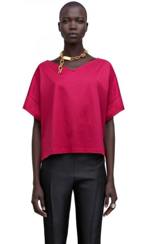 Acne A Line Top raspberry-red
