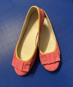 Alba Moda Ballerina's met kant roze-geel