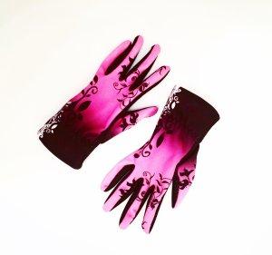 pinkfarbene handschuhe / sport / training / rad / lauf