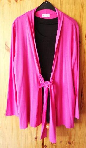 pinkfarbene Shirtjacke mit breitem Taillenbindeband von Peter Hahn