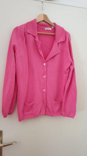 Marco Pecci Giacca in maglia rosa-magenta Cotone