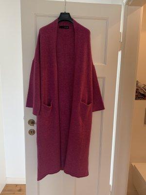 Abrigo de punto violeta