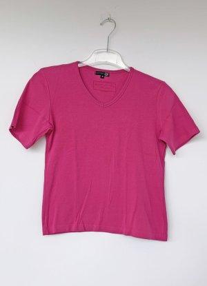 pinkfarbenes T-Shirt mit V-Ausschnitt, ZAB, Größe 38