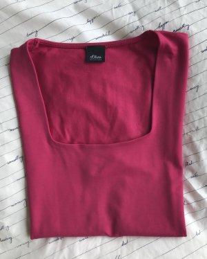 Selection by s.oliver Top básico rojo frambuesa-magenta