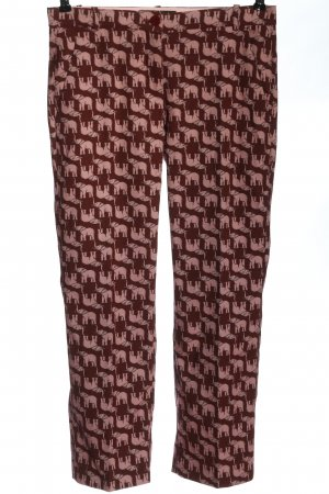 Pinko 7/8 Length Trousers brown-nude allover print casual look