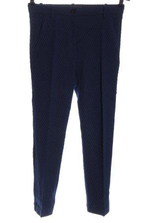 Pinko Spodnie 7/8 niebieski-czarny Wzór w paski W stylu biznesowym