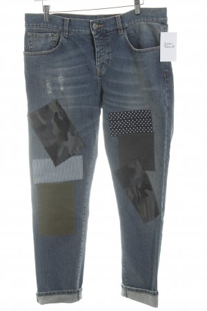 Pinko 7/8 Jeans stahlblau