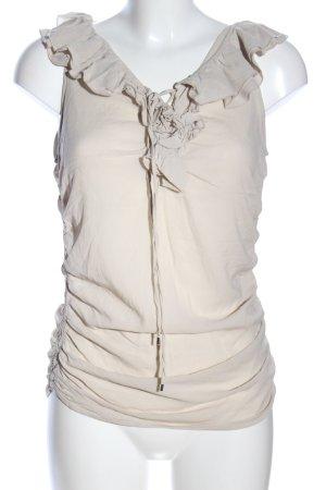 Pinko Blusa senza maniche bianco sporco stile casual