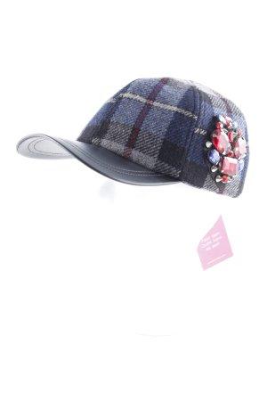 Pinko Basecap schwarz-dunkelblau Karomuster Casual-Look
