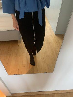 Pinko Ołówkowa spódnica czarny-srebrny
