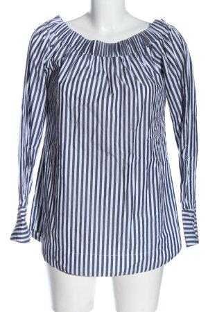 Pinko Blouse Carmen blanc-gris clair motif rayé style décontracté