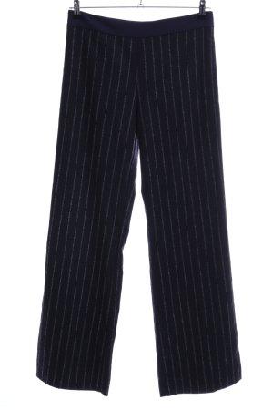 Pinko Pantalone culotte blu-bianco motivo a righe stile casual