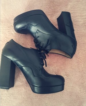 Pinko designer schuhe Stiefeletten pumps gr 40 boots leder