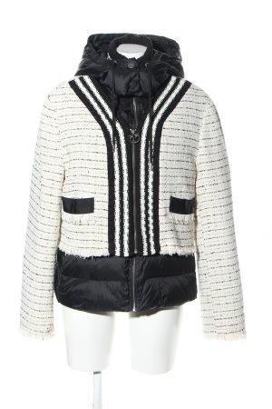Pinko Dubbelknoops jack wit-zwart gestreept patroon zakelijke stijl
