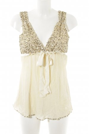 Pinko Empire Waist Top gold-colored-cream extravagant style