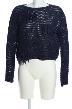 Pinko Häkelpullover blau Casual-Look