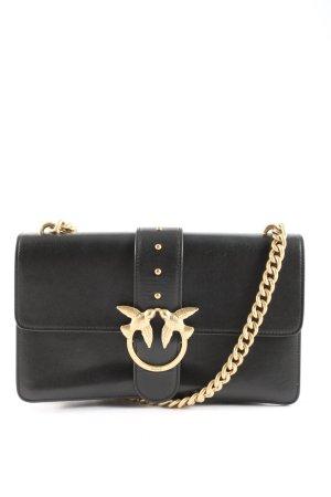 Pinko Handtasche schwarz-goldfarben Elegant