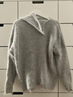 Pinko Hellgrauer Oversized Pullover 70% Angora S/M