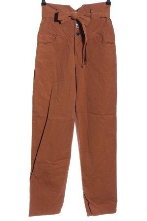 Pinko Spodnie z wysokim stanem brązowy W stylu casual