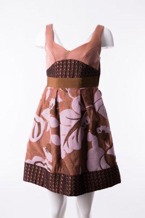 PINKO - Kleid Fantasie Pastelltöne mit Stickmuster Rose