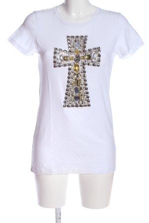Pinko Bluzka z krótkim rękawem biały W stylu casual