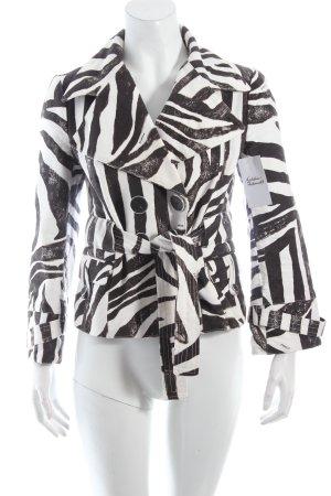 Pinko Kurzjacke weiß-schwarz Allover-Druck extravaganter Stil