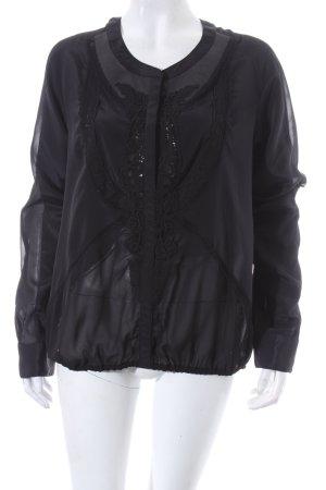 Pinko Langarm-Bluse schwarz Elegant