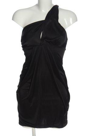 Pinko Vestido de un hombro negro elegante