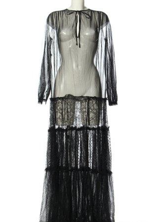 Pinko Maxikleid schwarz extravaganter Stil