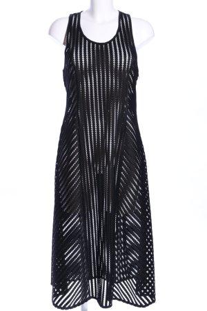 Pinko Midikleid schwarz Streifenmuster Elegant