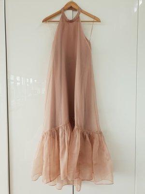 PINKO Midikleid aus Seide nude-roséfarben
