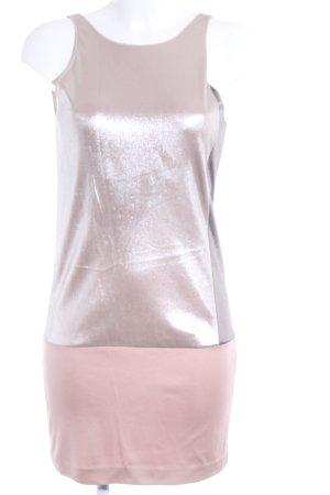 Pinko Minikleid roségoldfarben-grau Metallic-Optik