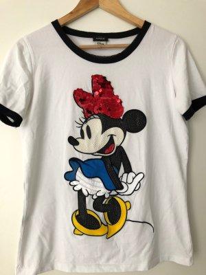 PINKO Minnie Maus Pailletten T-Shirt