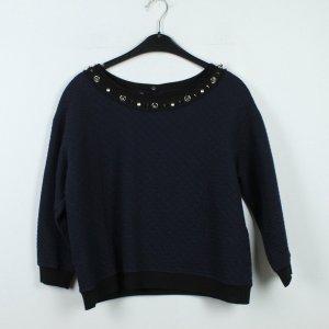PINKO Pullover Gr. S dunkelblau schwarz oversized (19/12/136)
