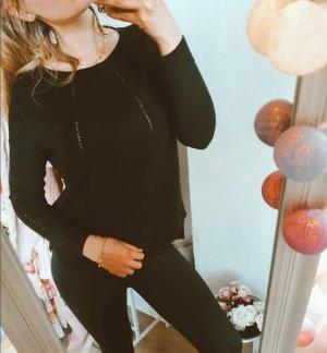 Pinko Pullover schwarz Viskose Wolle Kaschmir schwarz M