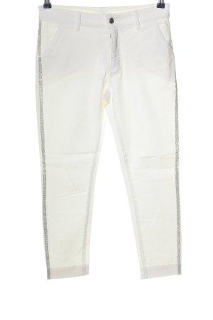 Pinko Jeans a sigaretta bianco con glitter