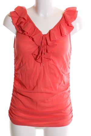 Pinko Top met franjes rood elegant