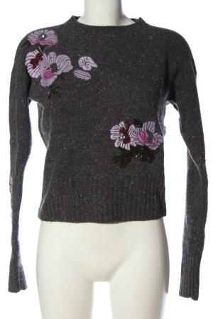 Pinko Sweter z okrągłym dekoltem Wzór w kwiaty W stylu casual