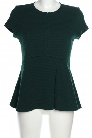 Pinko Top peplum verde estampado repetido sobre toda la superficie look casual