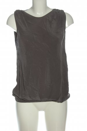 Pinko Top in seta grigio chiaro stile classico