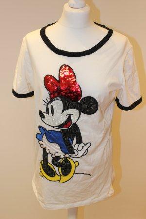 Pinko Shirt aufwändige Paillettenstickerei und schwarze Papellierung