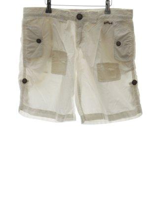 Pinko Shorts weiß Logo-Applikation aus Leder