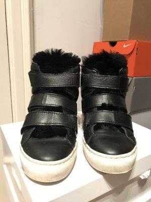 Pinko Zapatillas con tacón negro Cuero