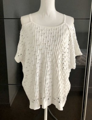 Pinko Knitted Poncho white