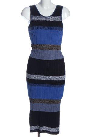 Pinko Robe en maille tricotées noir-bleu imprimé allover style décontracté
