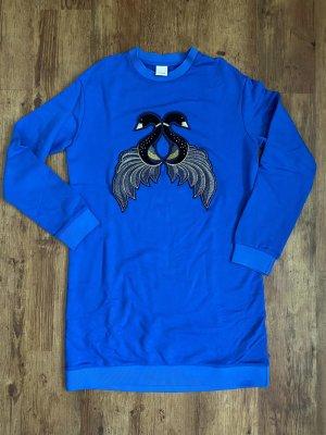Pinko Robe Sweat bleu-bleu acier